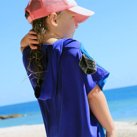 kids beach poncho travel towel florida