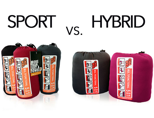 Sport vs. Hybrid towel